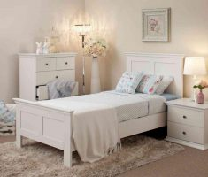 beautiful white oak bedroom decoration furniture for girl
