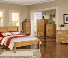 big size bedroom with oak bedroom decoration furniture