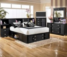 black oak bedroom decoration furniture for big bedroom size