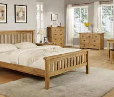 comfortable bedroom with oak bedroom decoration furniture