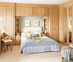 cool oak bedroom decoration furniture with big cabinets