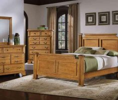 double bed oak bedroom decoration furniture