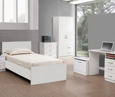 impressing white oak bedroom decoration furniture for single