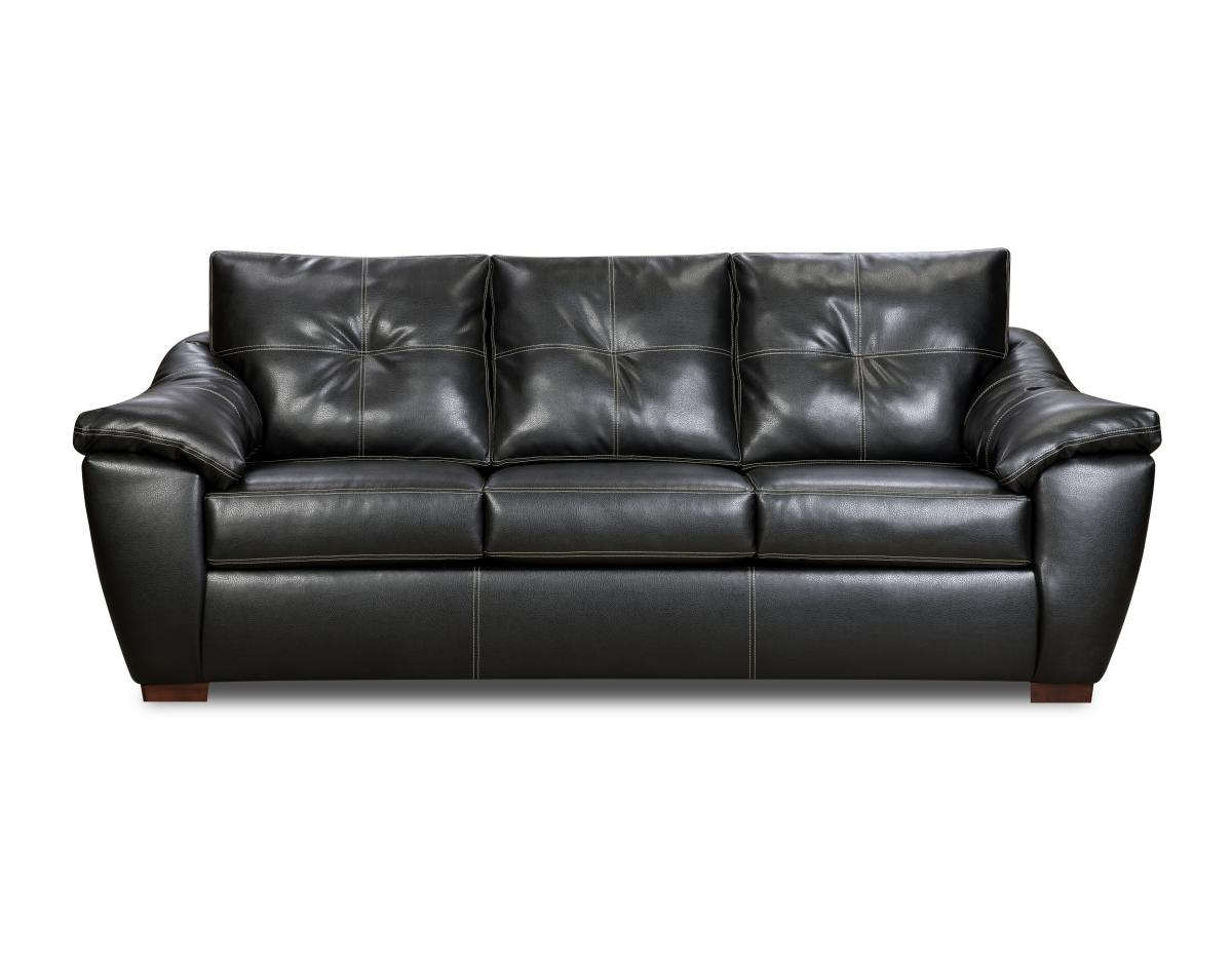 Lux leather black sofa for living room 3 part Home Inspiring
