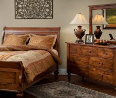 lux rustic oak bedroom decoration furniture with cabinet drawer