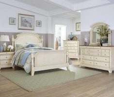 luxurious elegant white oak bedroom decoration furniture