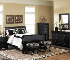 mesmerizing black oak bedroom decoration furniture and bench