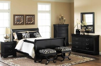 mesmerizing-black-oak-bedroom-decoration-furniture-and-bench