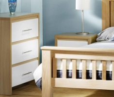 minimalist white oak bedroom decoration furniture