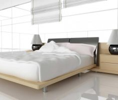 modern bedroom wiith white oak bedroom decoration furniture