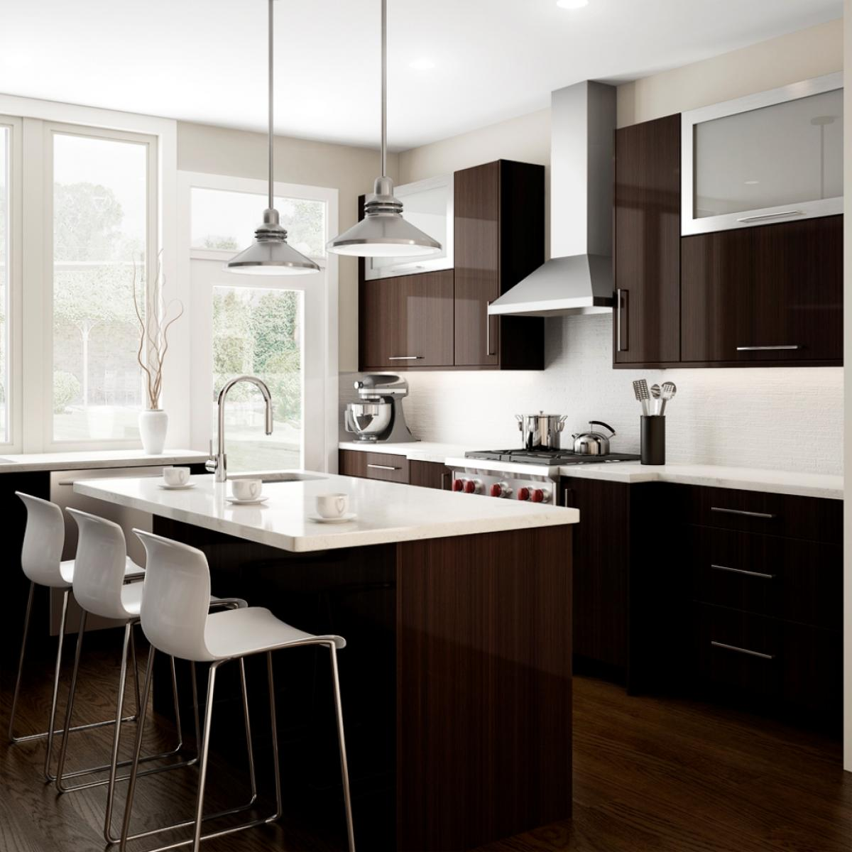 Kitchen Design Brown: Modern-luxurious-small-kitchen-design-with-small-kitchen