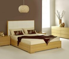 modern minimalist oak bedroom decoration furniture