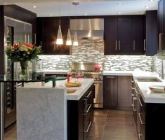 modern small kitchen design with hanging small kitchen cabinet ideas