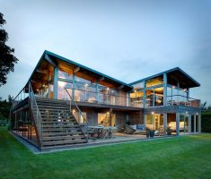 modern unique residence design for unique mountain house style