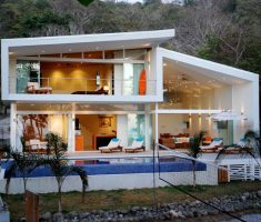 modern white house with unique designs