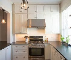 narrow u shaped kitchen design for small house