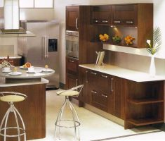 rustic modern small kitchen cabinet design