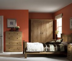 simple bedroom decor with wooden oak bedroom decoration furniture
