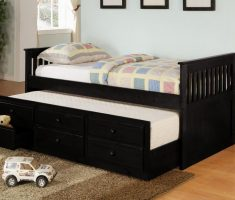 simple black oak bedroom decoration furniture for kids