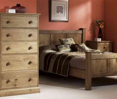 simple rustic oak bedroom decoration furniture
