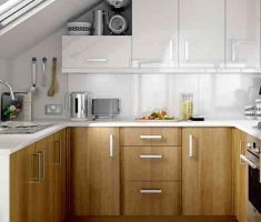 small kitchen with small kitchen cabinet design