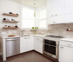 white wooden small kitchen cabinet for small kitchen
