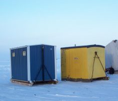 3 classic portable box ice fishing house