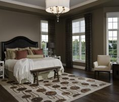 admirable big master bedroom with modern window treatments