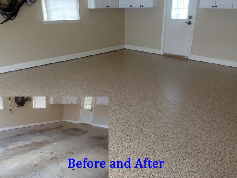 Admirable Epoxy Garage Floor Before After