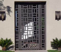 White metal front sliding gate designs for Front gate design ideas