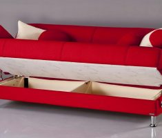 admirable red small sofa bed with storage design