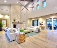 adorable big living room area with light hardwood floors design