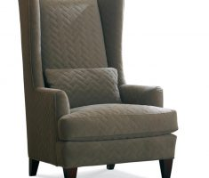 adorable grey high back chair with arm