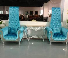 adorable modern tufted blue high back chair with arm for modern decorations