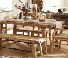 alluring bench and farmhouse dining table