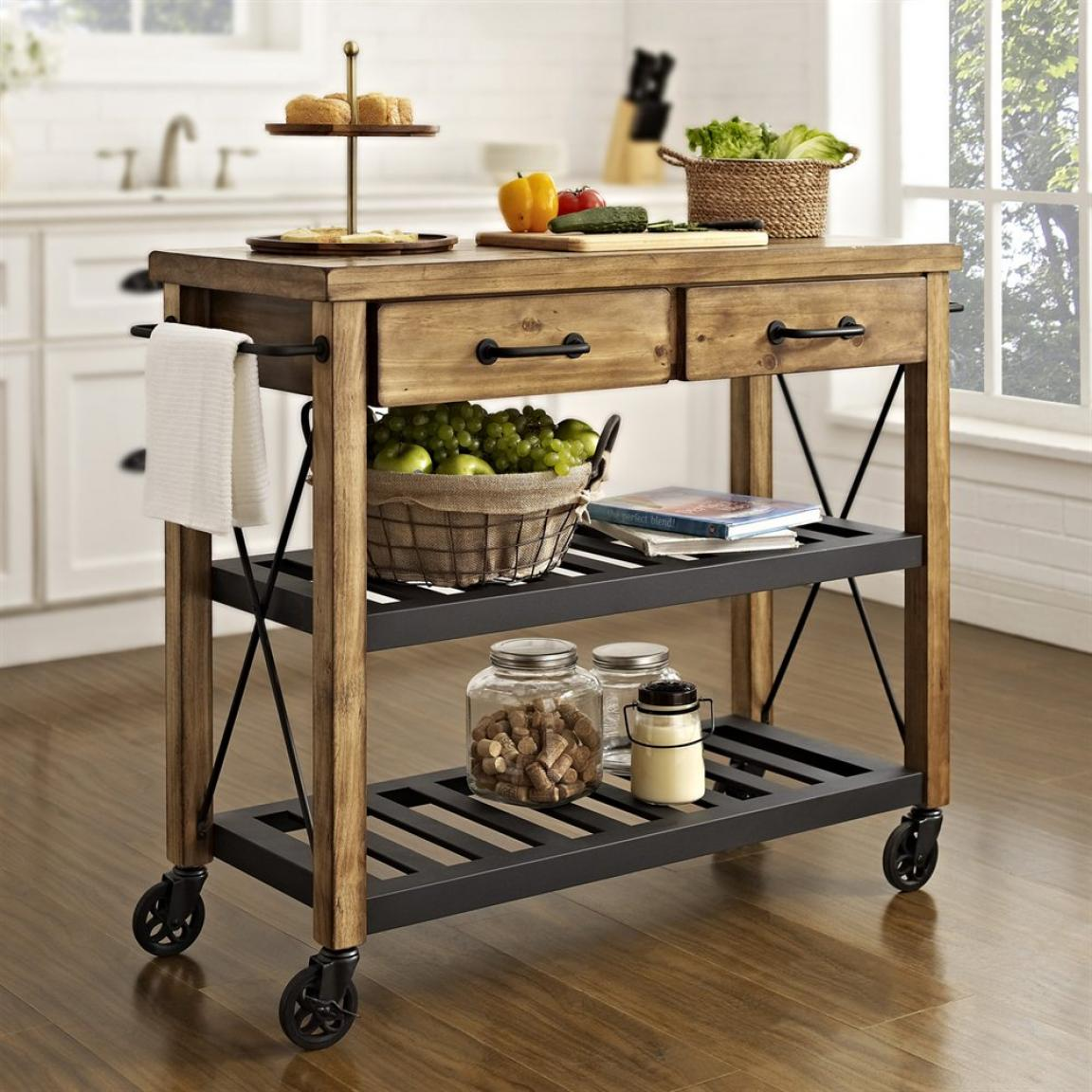 alluring-diy-kitchen-island-cart-on-wheels