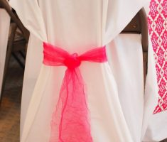 alluring diy white folding chair covers with pink ribbon