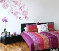 alluring floral pattern for removable wall decals inspirations bedroom