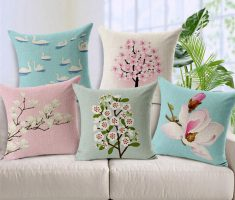 alluring flowers throw pillow covers design for white sofa