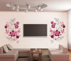 alluring flowers for removable wall decals inspirations living room