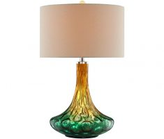 alluring glass table lamps for living room with differnt green gold colours