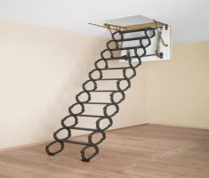 alluring metal pull down attic stairs
