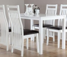 alluring milton white dining table and 4 java chairs