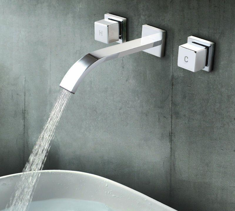 Alluring modern bathroom wall faucets simple design home for Simple modern bathroom designs