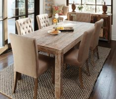 Alluring Modern Farmhouse Dining Table With Tufted Chusion