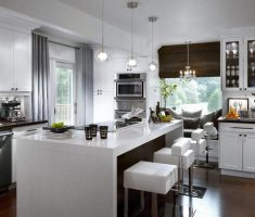 alluring modern window treatments for kitchen