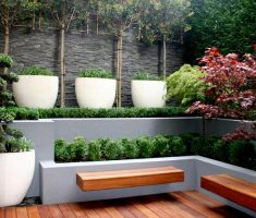 alluring small garden for small place with modern garden pots