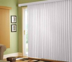 alluring white curtains for sliding glass doors