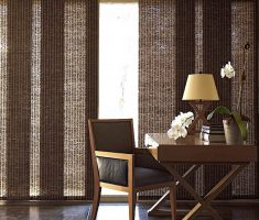 amusing brown curtains for sliding glass doors for minimalist decor