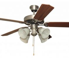 amusing ceiling fans with lights by kichler with 4 lamps